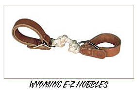 custom leather wyoming e-z  hobbles